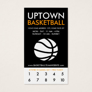 uptown basketball loyalty business card