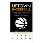uptown basketball loyalty business card templates