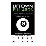 uptown billiards loyalty business card