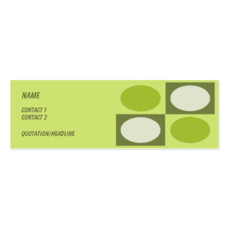 Uptown Double-Sided Mini Business Cards (Pack Of 20)