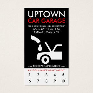 uptown car garage loyalty business card