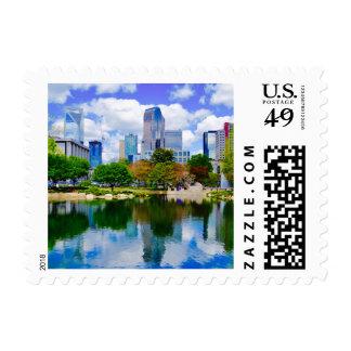 uptown charlotte stamp