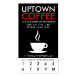 uptown coffee loyalty Double-Sided standard business cards (Pack of 100)