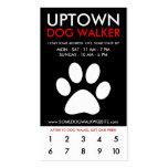 uptown dog walker loyalty business card template