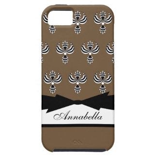 UPTOWN GIRL 38 BROWN 5 iPhone 5 CASE
