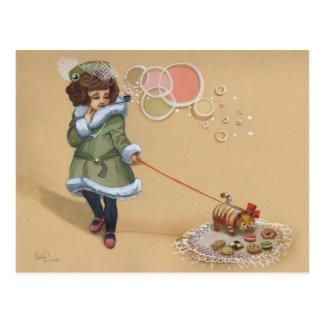 Uptown Girl and her Kookie Cat Postcard