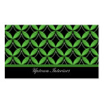 Uptown Glam Business Card, Green