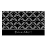 Uptown Glam Business Card, Metallic Gray
