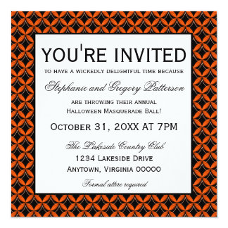 Uptown Glam Fancy Halloween Party Invitation