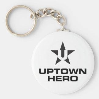 Uptown Hero logo Basic Round Button Keychain