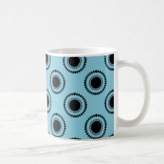 Uptown Hipster Mug, Turquoise Coffee Mug