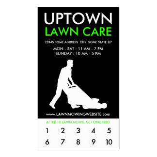 uptown lawn care punch card Double-Sided standard business cards (Pack of 100)