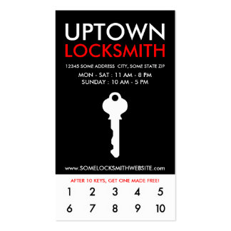 uptown locksmithv loyalty Double-Sided standard business cards (Pack of 100)