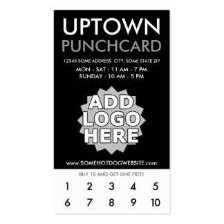 uptown loyalty punchcard business card
