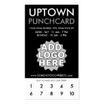 uptown loyalty punchcard business card templates