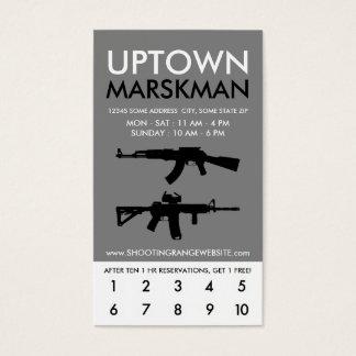 uptown marksman loyalty business card