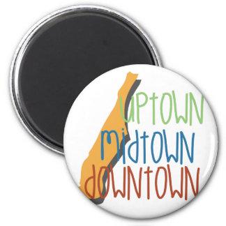 Uptown Midtown 2 Inch Round Magnet