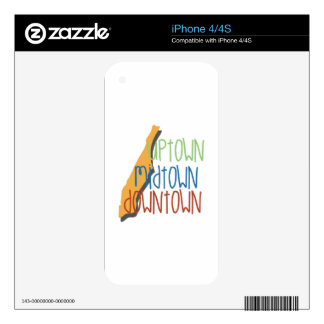 Uptown Midtown Skins For The iPhone 4S