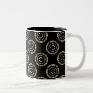 Uptown Posh Mug, Gold Two-Tone Coffee Mug