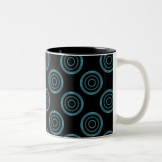 Uptown Posh Mug, Turquoise Two-Tone Coffee Mug