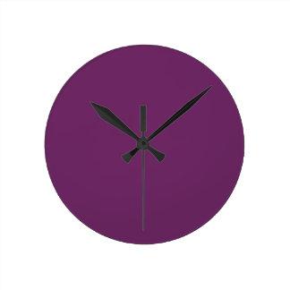 Uptown Purple-Royal Purple-Uptown Girl-Designer Round Clock