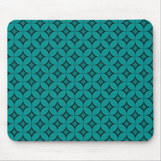 Uptown Retro Mousepad, Teal Mouse Pad