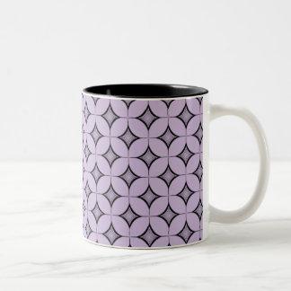 Uptown Retro Mug, Lavender Two-Tone Coffee Mug