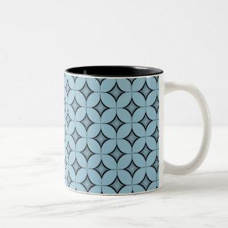 Uptown Retro Mug, Light Blue Two-Tone Coffee Mug