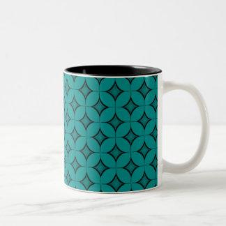Uptown Retro Mug, Teal Two-Tone Coffee Mug