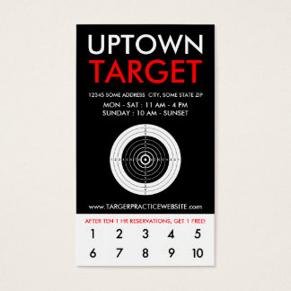 uptown target loyalty business card