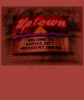 Uptown Theater Welcome President Obama Kansas City T-shirts