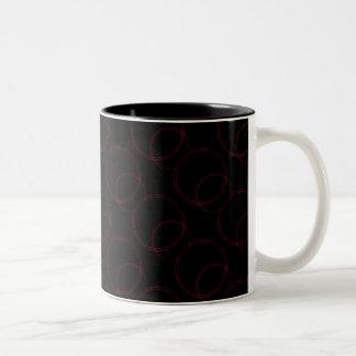 Uptown Vibrance Mug, Burgundy Two-Tone Coffee Mug