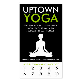 uptown yoga loyalty business card template