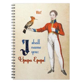 Upupa Epops Spiral Note Book