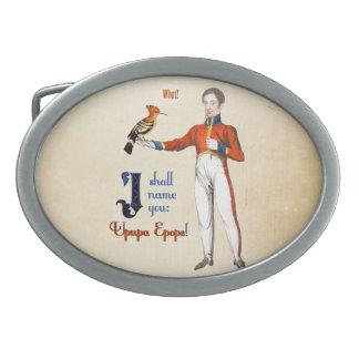 Upupa Epops Oval Belt Buckle