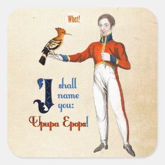 Upupa Epops Square Sticker