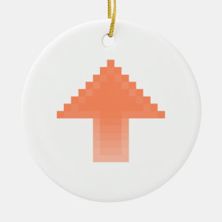 Upvote Double-Sided Ceramic Round Christmas Ornament