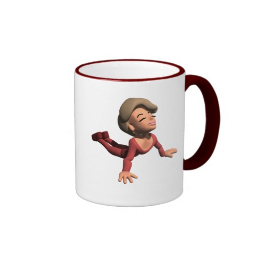 Upward Dog Yoga Pose Gear Ringer Coffee Mug