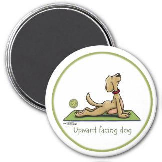 Upward Facing Dog - yoga pose 3 Inch Round Magnet