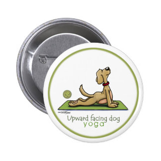 Upward Facing Dog - yoga pose Pinback Button
