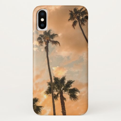 Upward View of Palms iPhone X Case