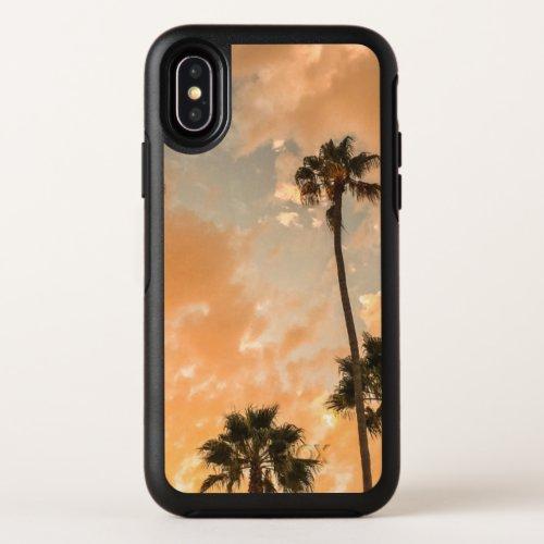 Upward View of Palms OtterBox Symmetry iPhone X Case