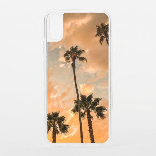 Upward View of Palms iPhone XS Case