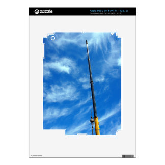 Upward view on the boom of a crane decals for iPad 3