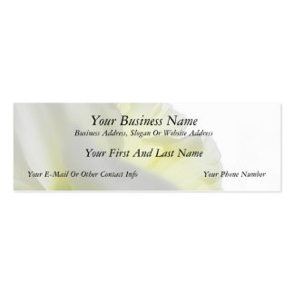 Upwards - Daffodil Petals From Below Double-Sided Mini Business Cards (Pack Of 20)