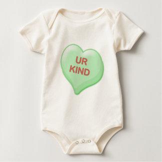 Ur Kind Candy Heart Baby Bodysuit