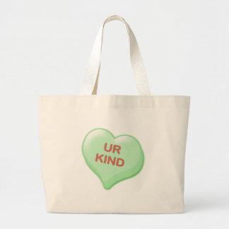 Ur Kind Candy Heart Large Tote Bag