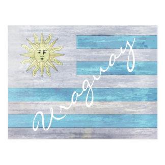 Uraguay apenó la bandera postales