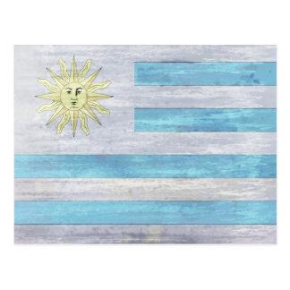 Uraguay distressed flag postcard