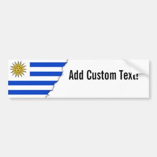 Uraguay flag bumper sticker